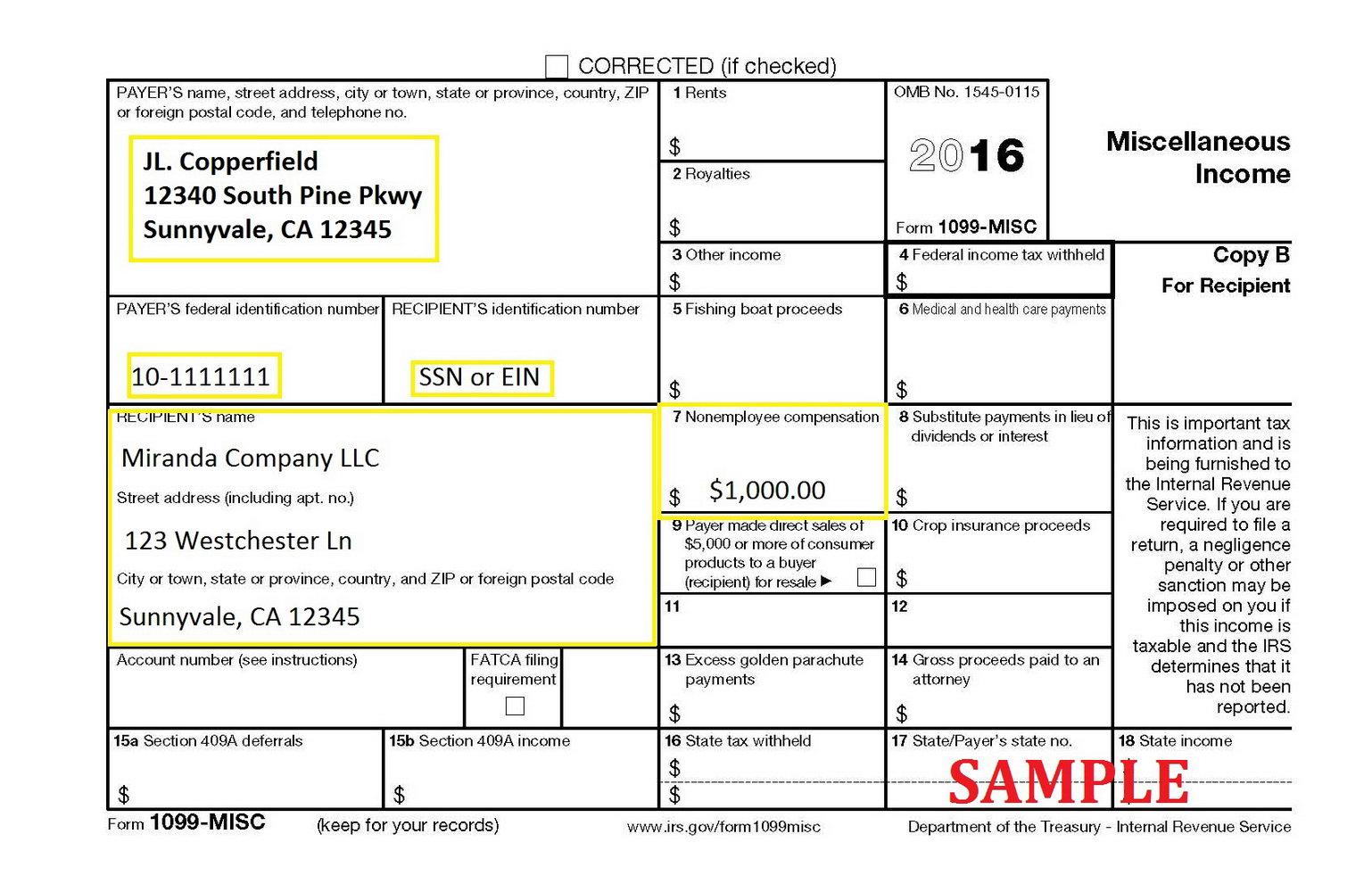 Social Security Tax Form 1099