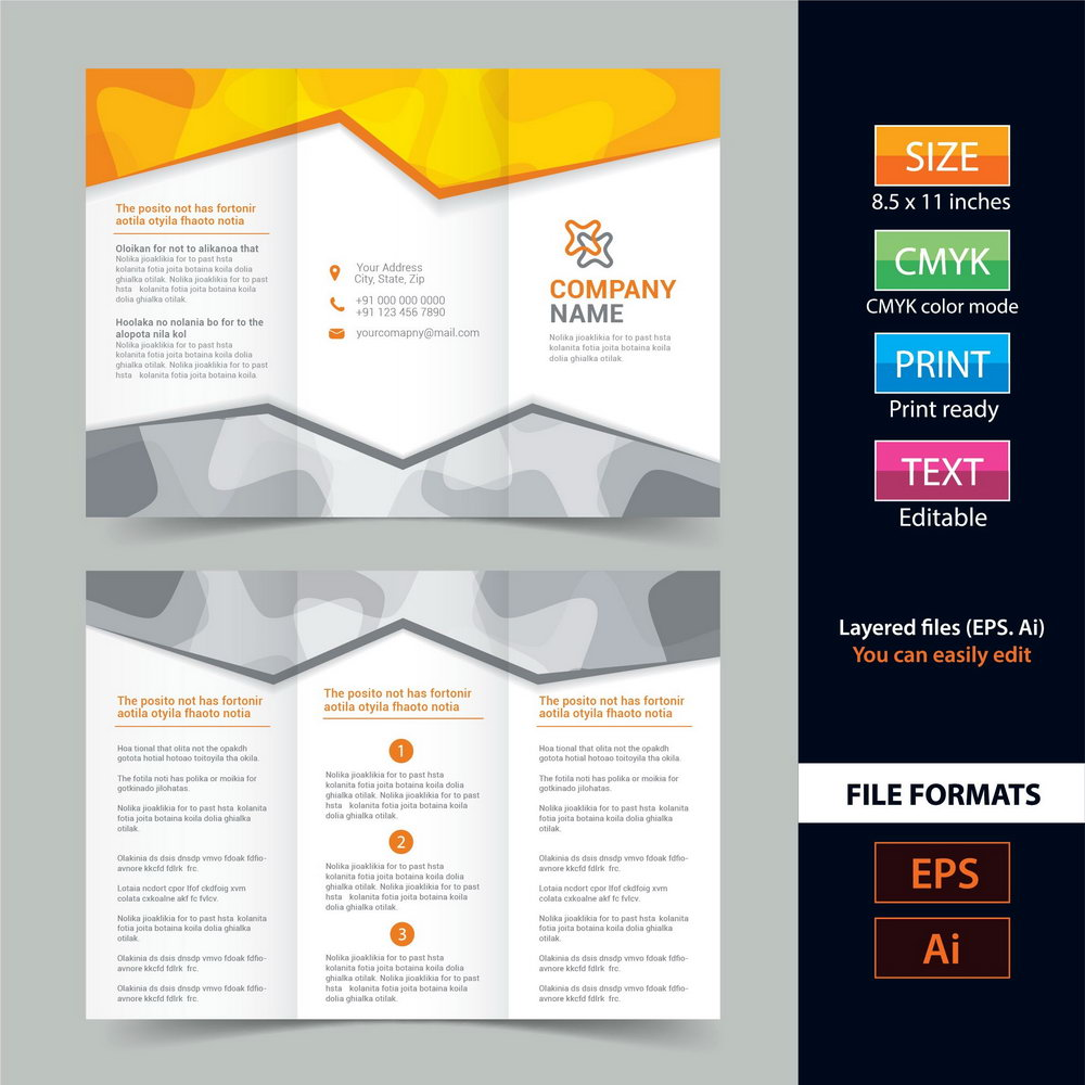Tri Fold Brochure Templates Free Download
