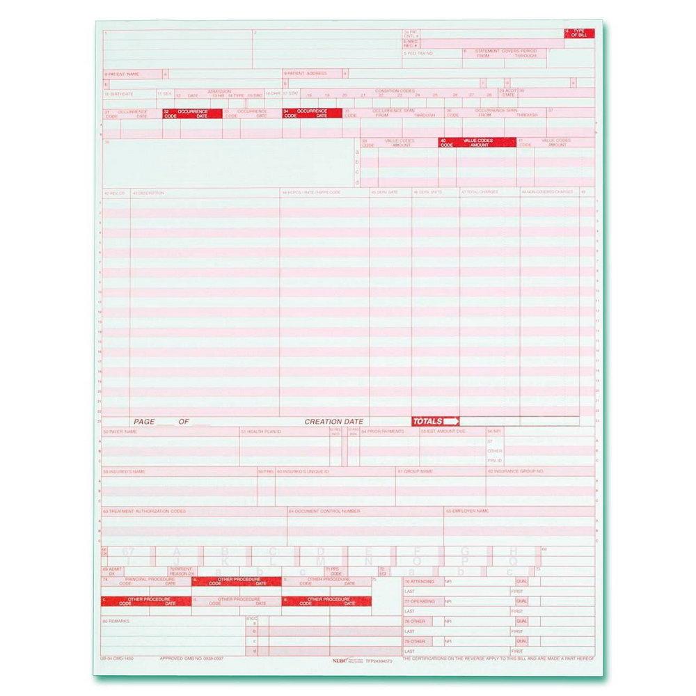 Ub 04 Billing Form Sample