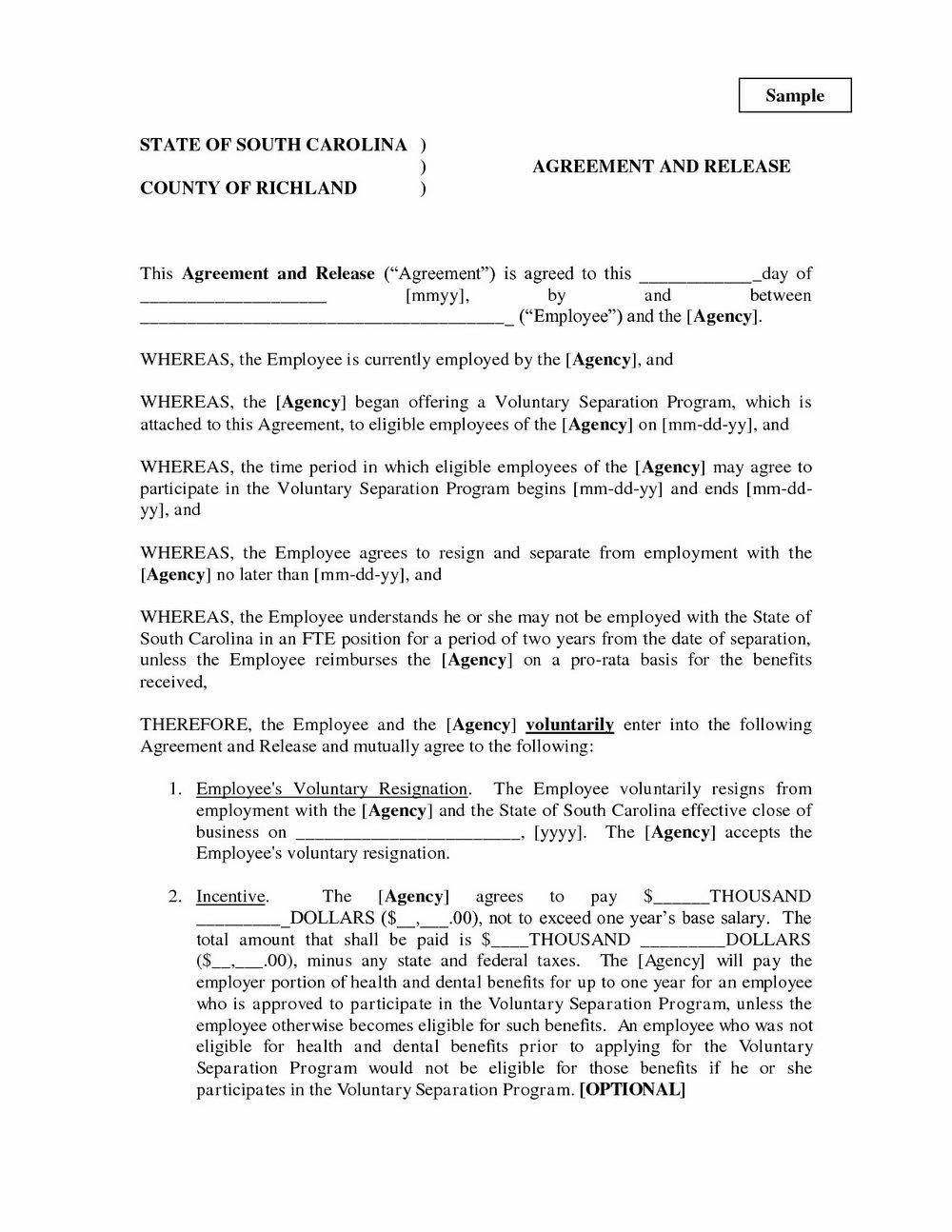 Virginia Separation Agreement Form