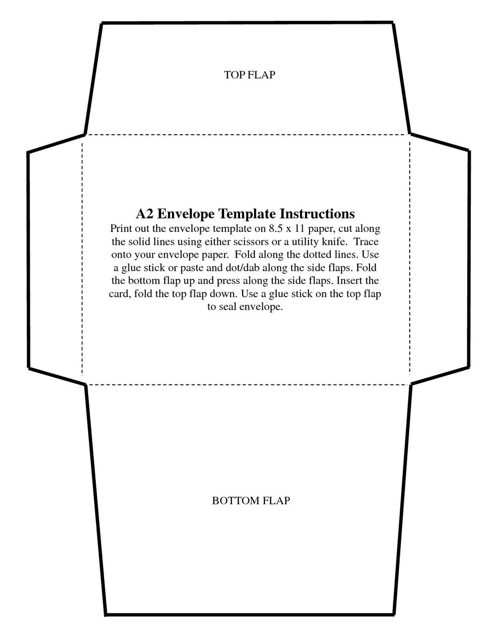 #10 Envelope Printing Template