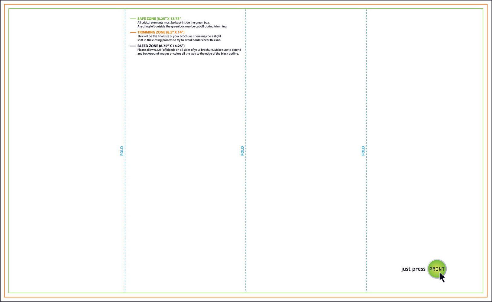 11×17 Half Fold Brochure Template