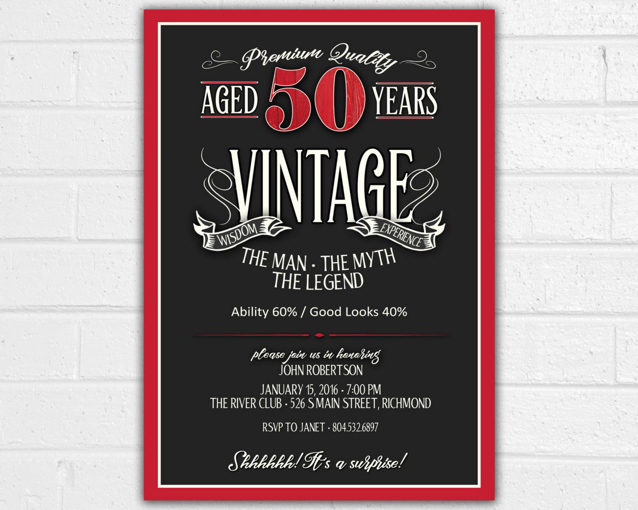 50 Birthday Invites Templates
