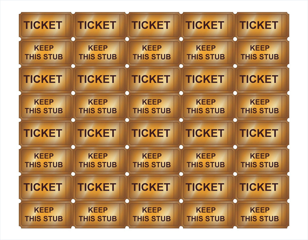 Admission Ticket Template Psd