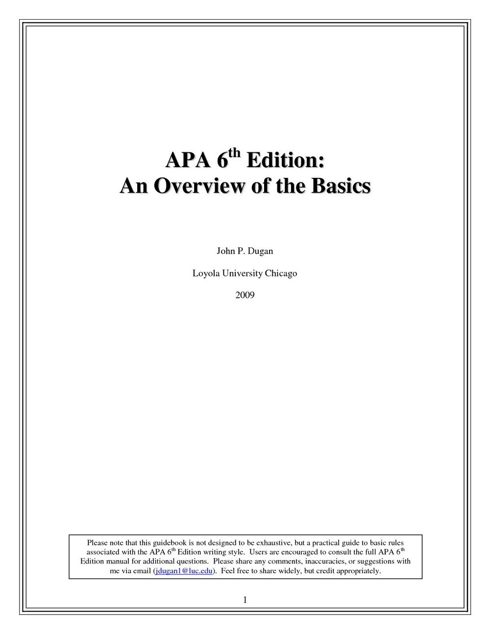 Apa 6th Edition Cover Page Template