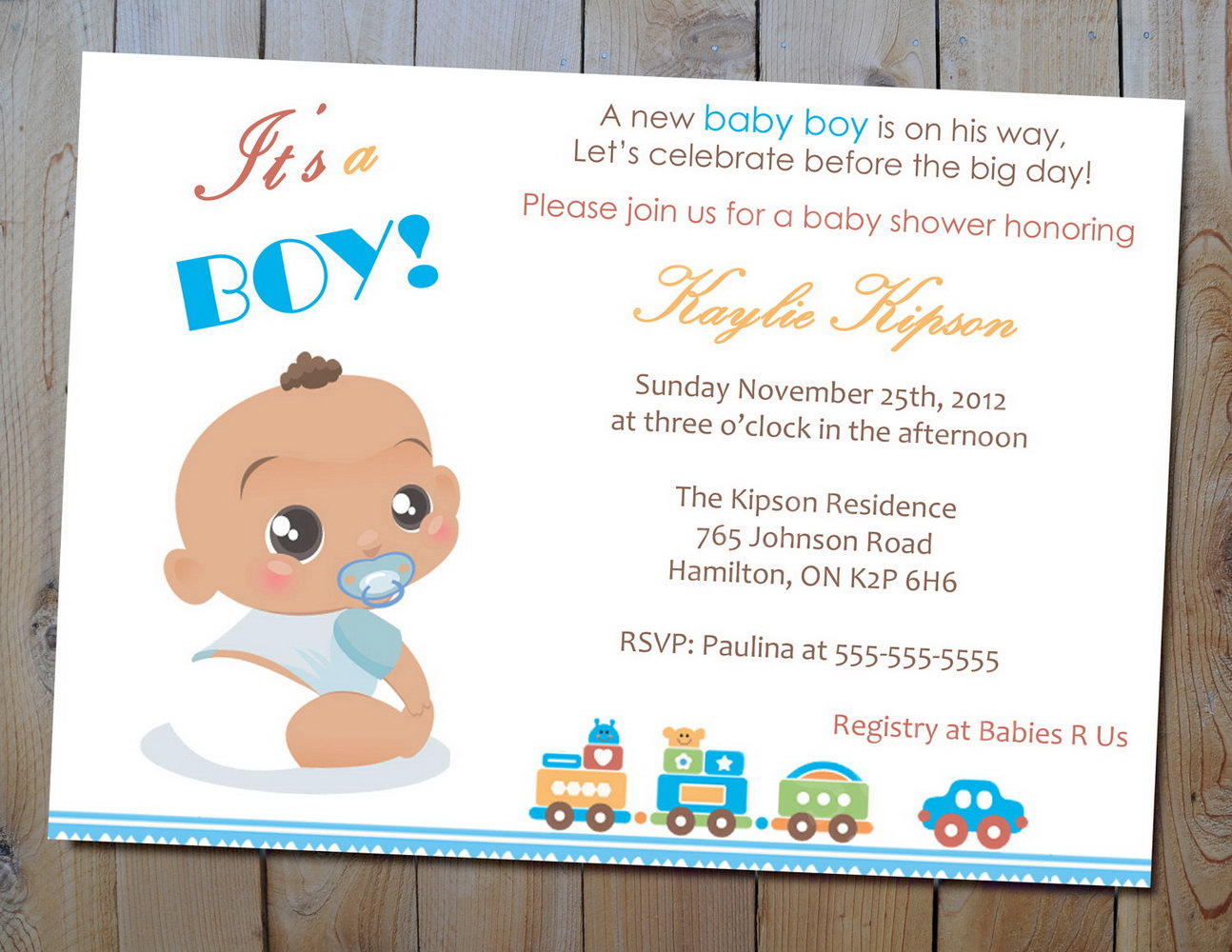 Baby Shower Invitations Templates Boy
