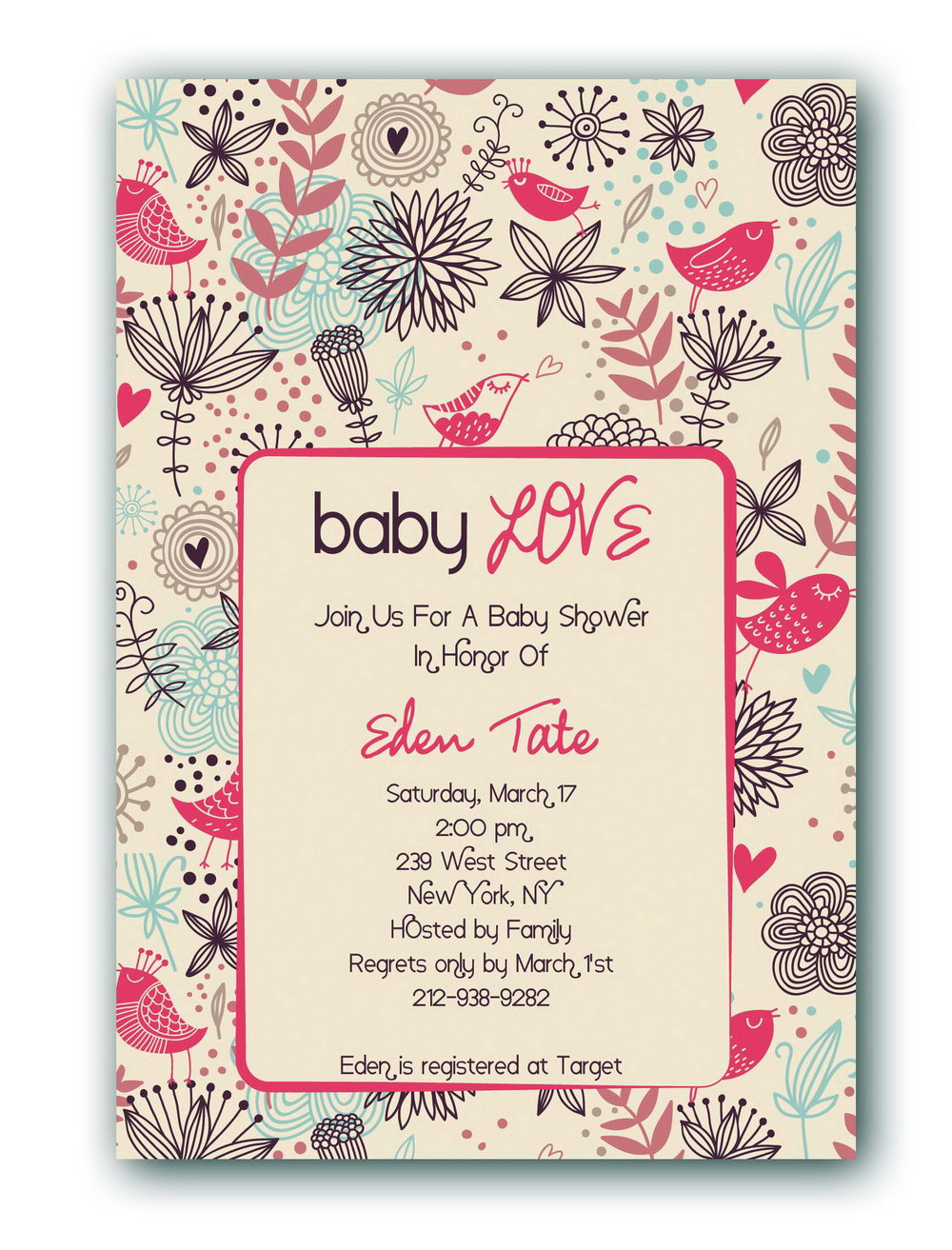 Baby Shower Invitations Templates Girl