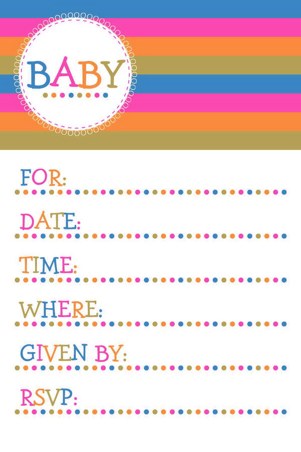 Baby Shower Invite Template Word