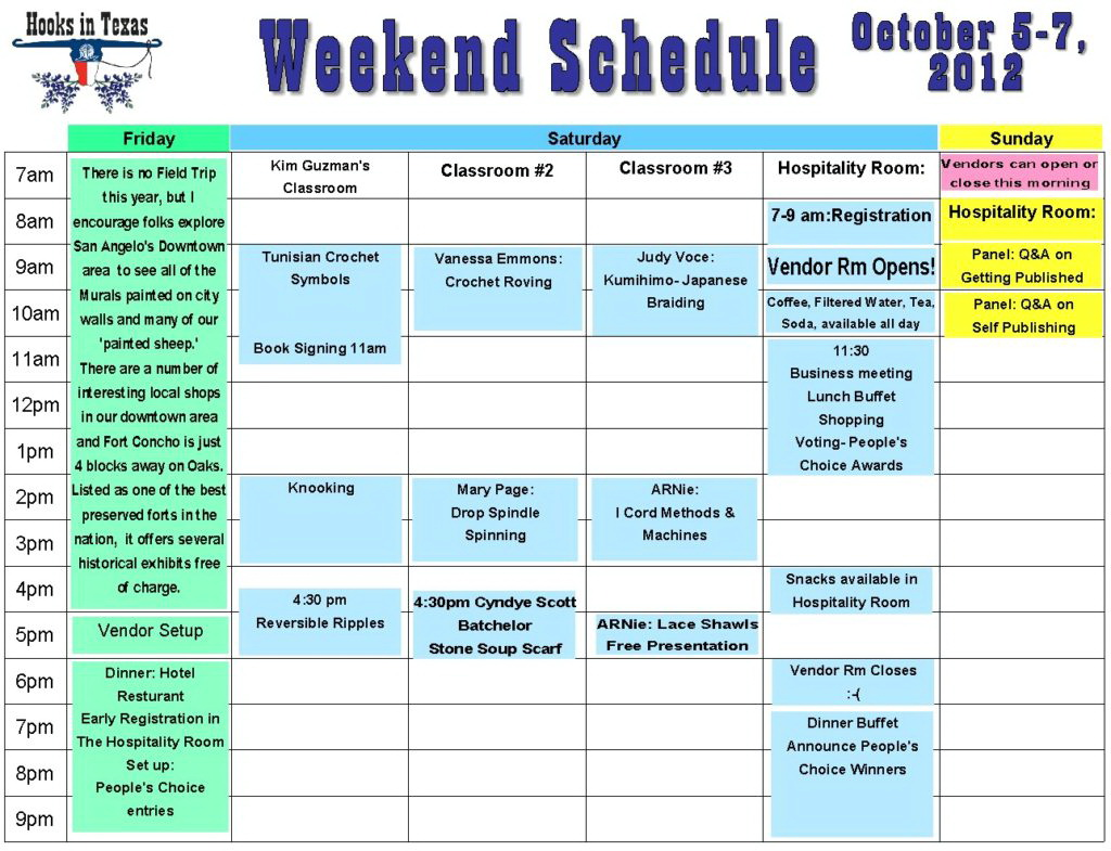 Bachelorette Itinerary Template Excel