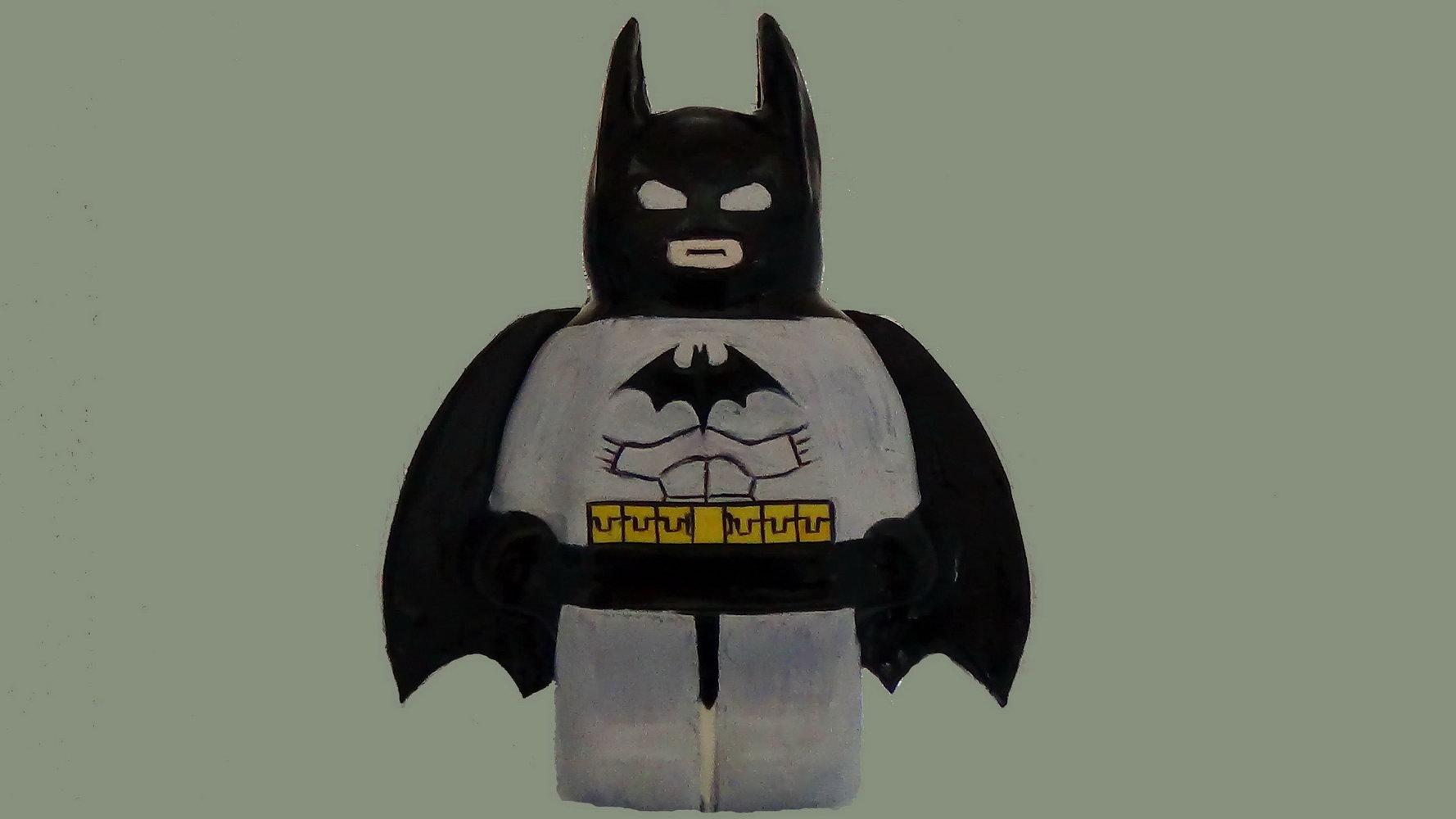 Batman Cake Building Template