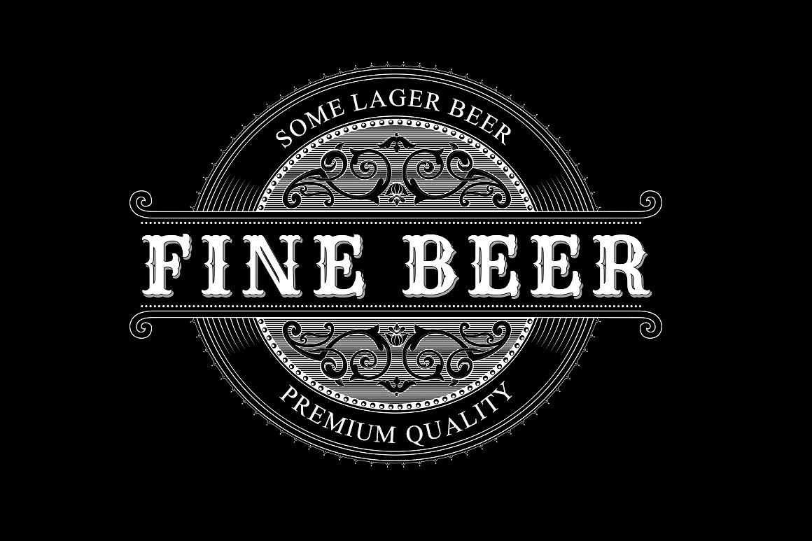 Beer Label Template Psd