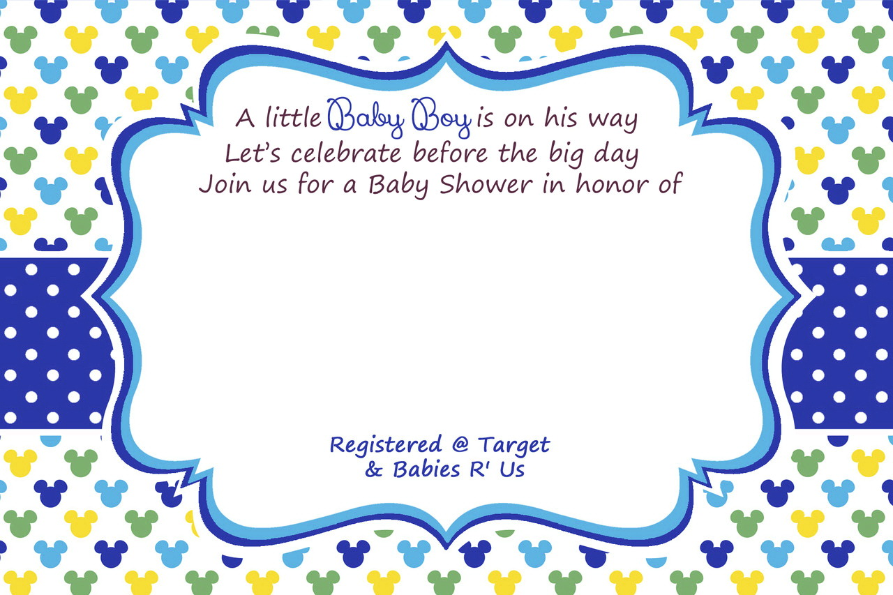 Blank Baby Shower Invitation Templates Free
