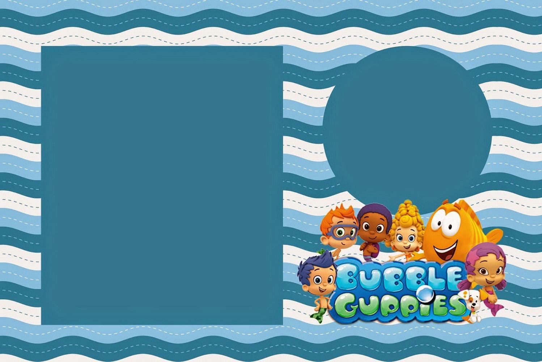 Blank Bubble Guppies Invitation Template
