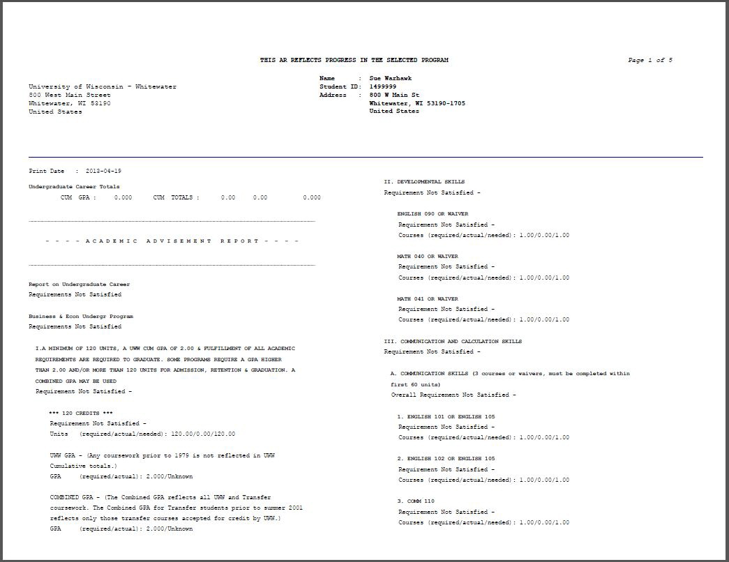 Blank College Transcript Template