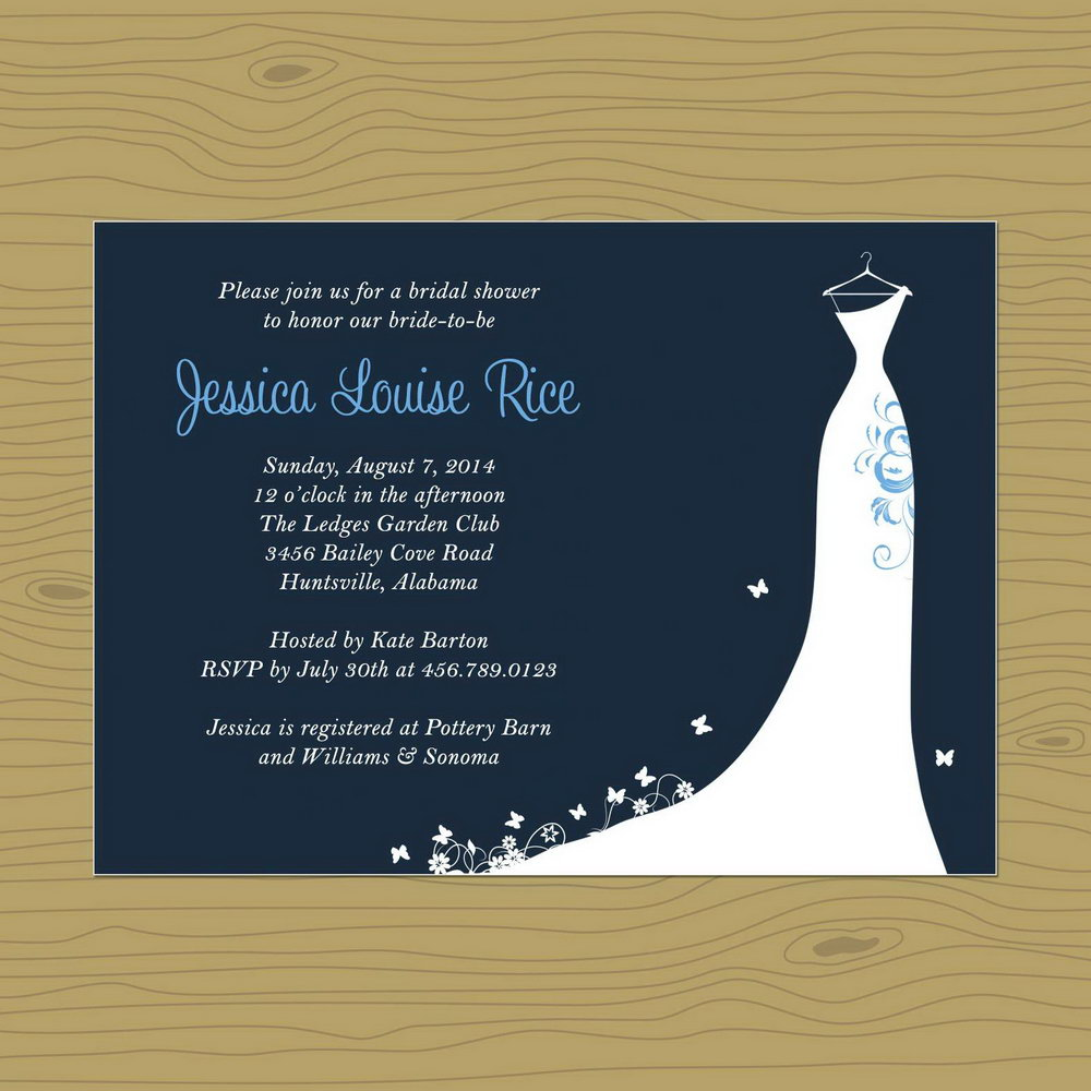 Bridal Shower Invitation Template Free Download