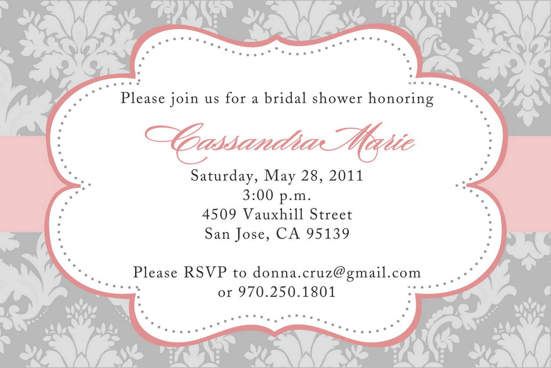 Bridal Shower Invitations Templates Free Download