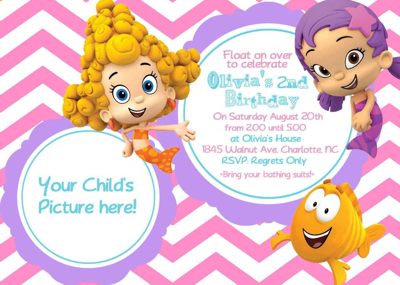 Bubble Guppies Invitation Template