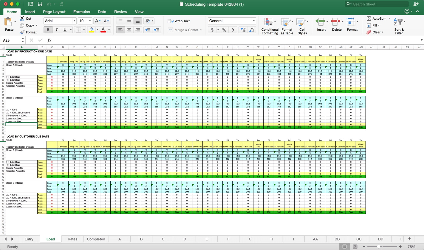 Capacity Planning Template Excel