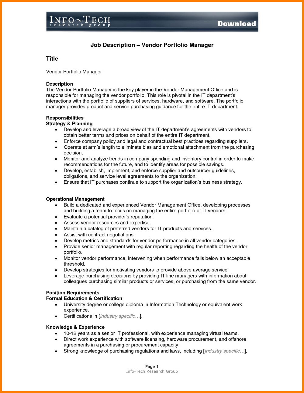 Career Portfolio Template Microsoft Word