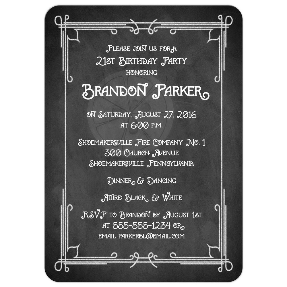 Chalkboard Birthday Invitation Template