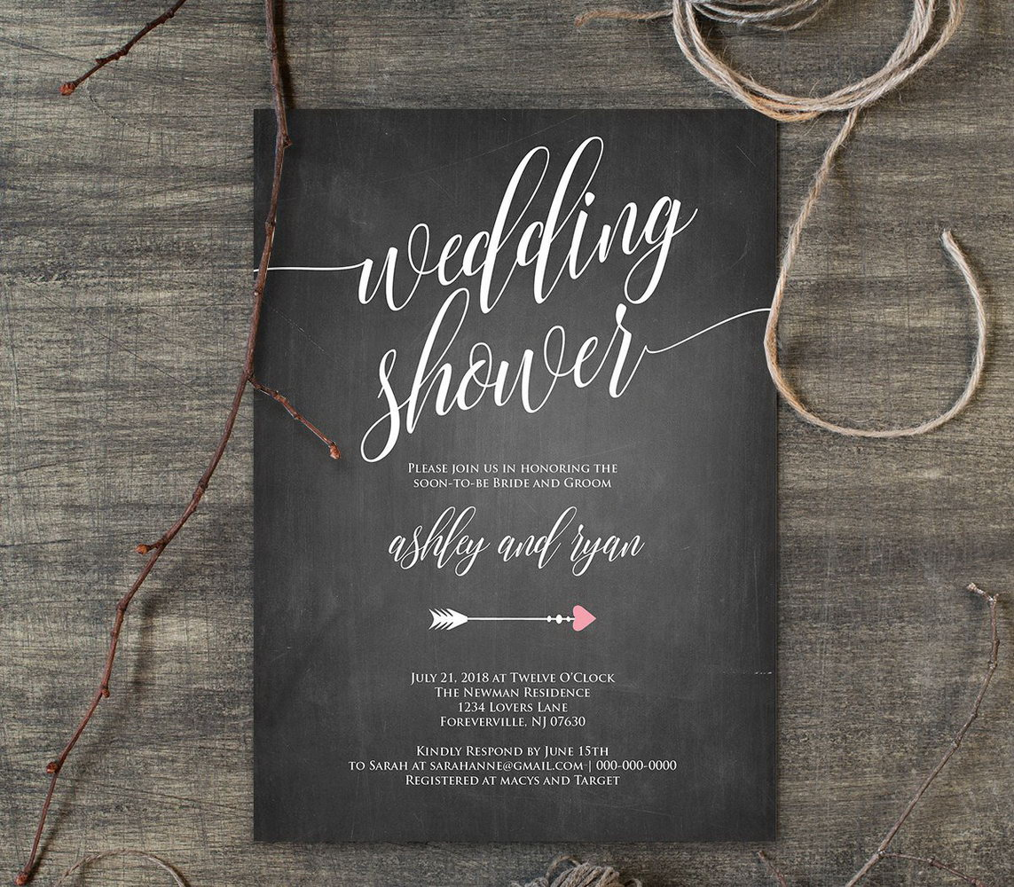 Chalkboard Invitation Template Blank