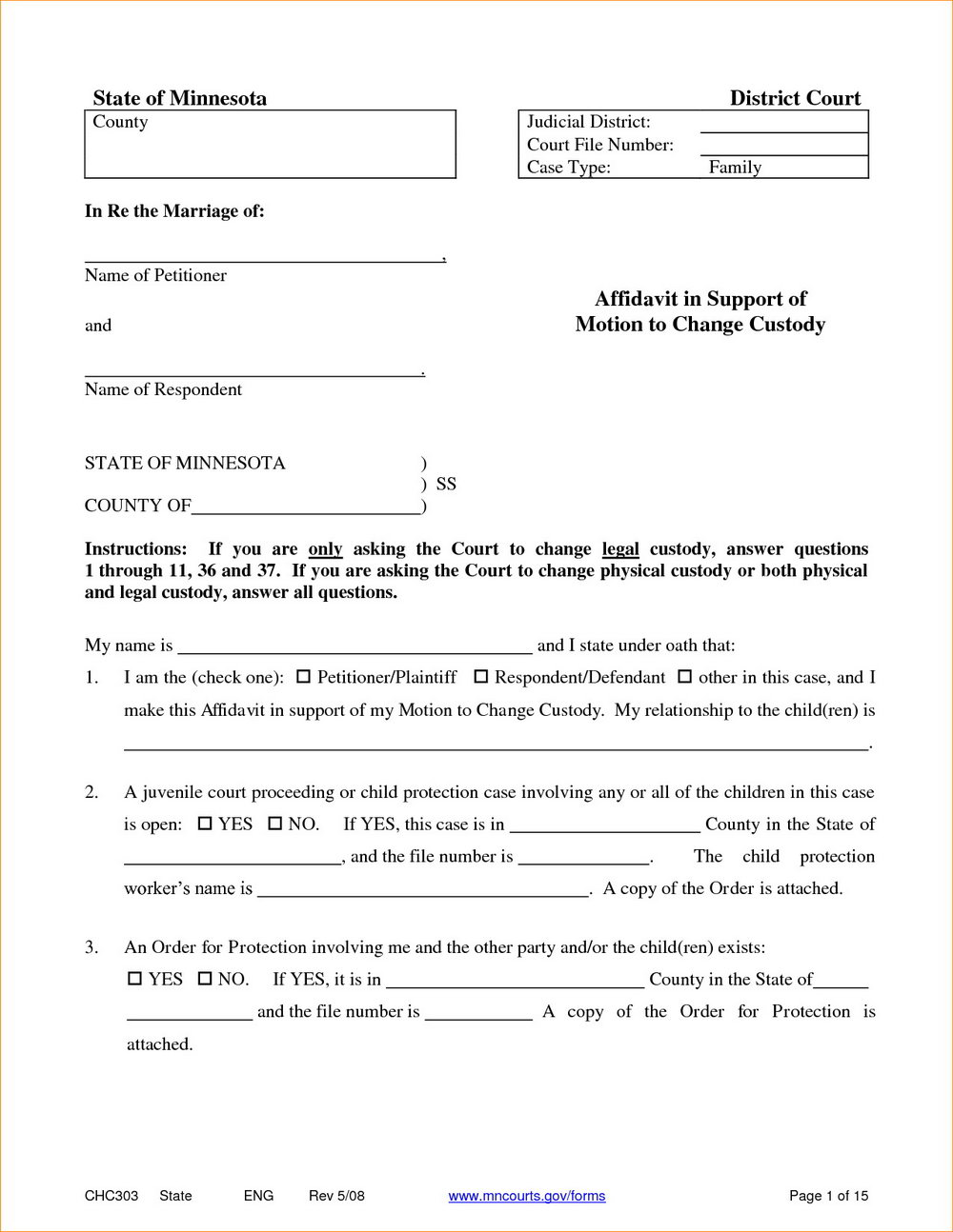 Child Custody Agreement Template Bc