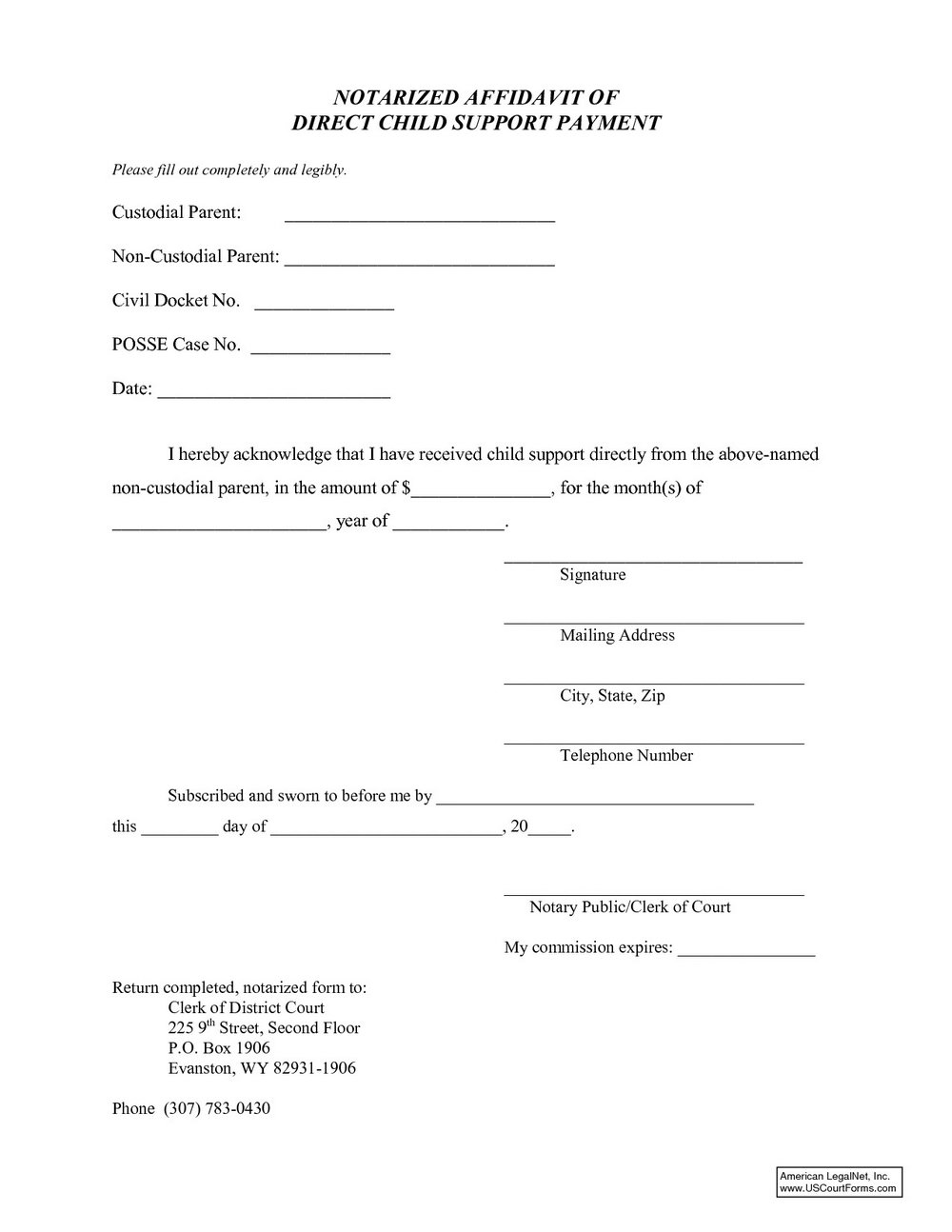 Child Custody Agreement Template Nc