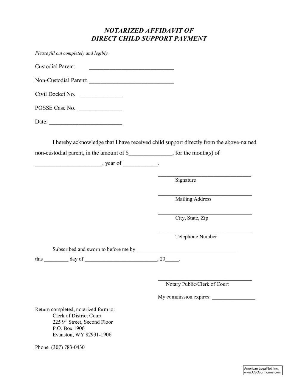 Child Custody Agreement Template Nc