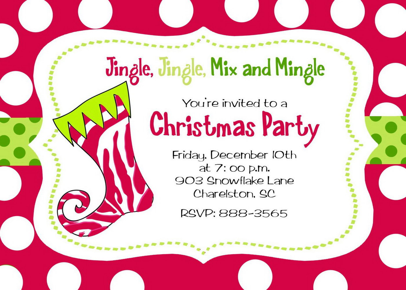 Christmas Party Invitation Templates Free Word