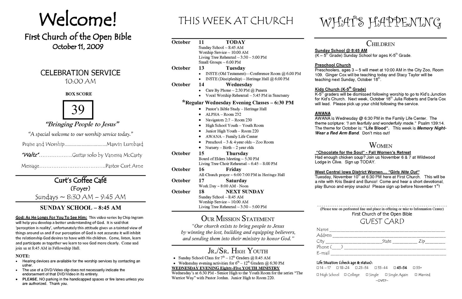 Church Bulletin Template For Mac Pages