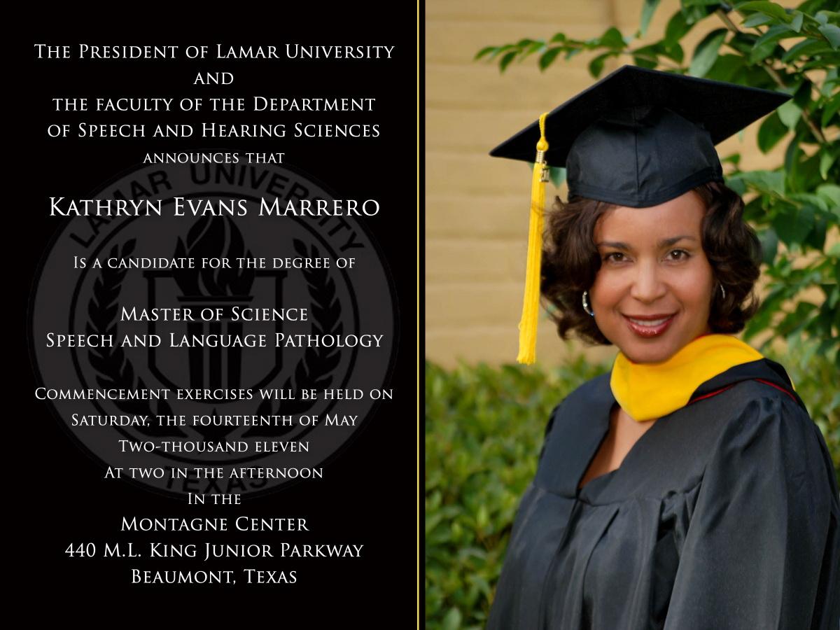 College Graduation Announcements Templates