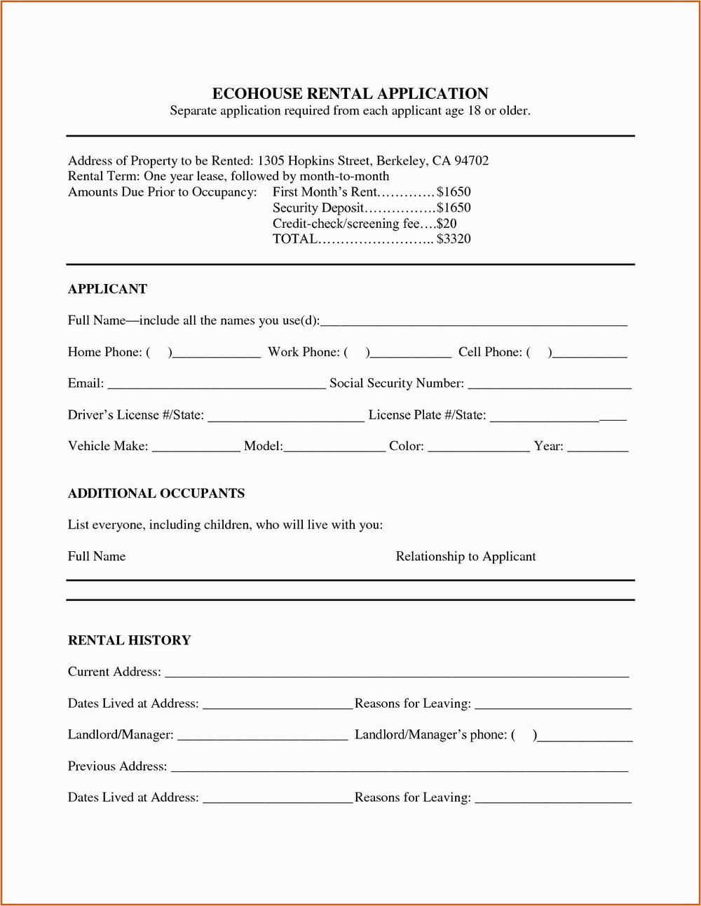 Commercial Lease Abstract Template Excel