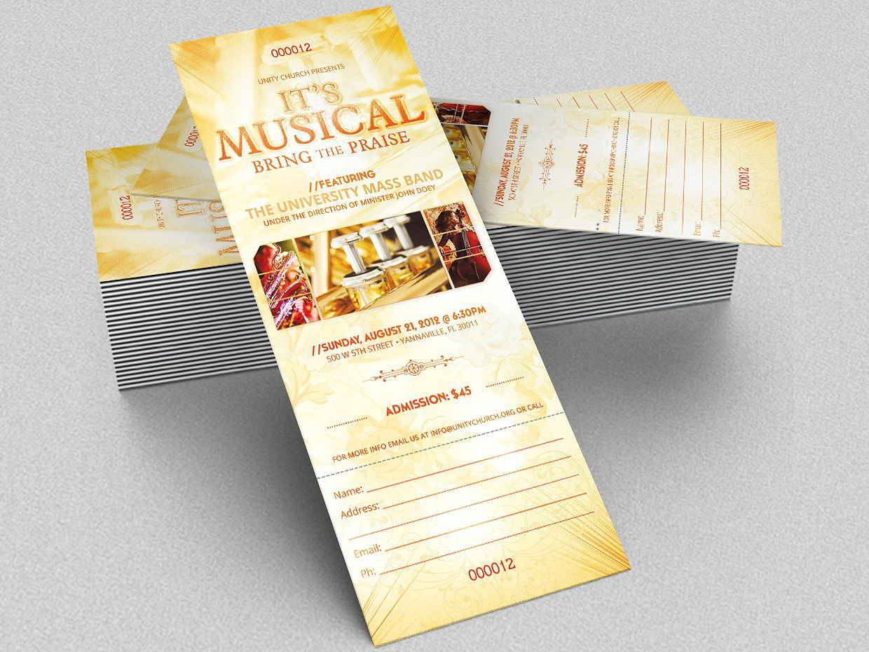 Concert Ticket Template Word