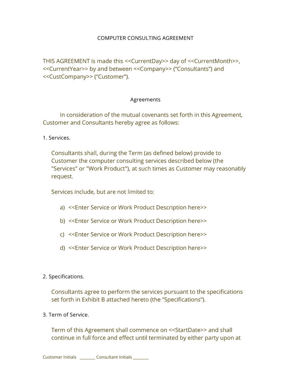 Consulting Contract Template Canada