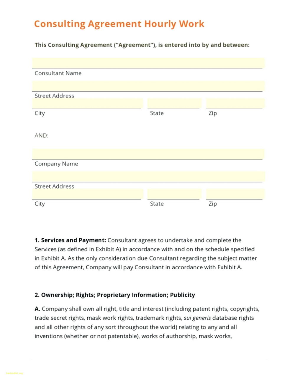 Consulting Contract Template South Africa