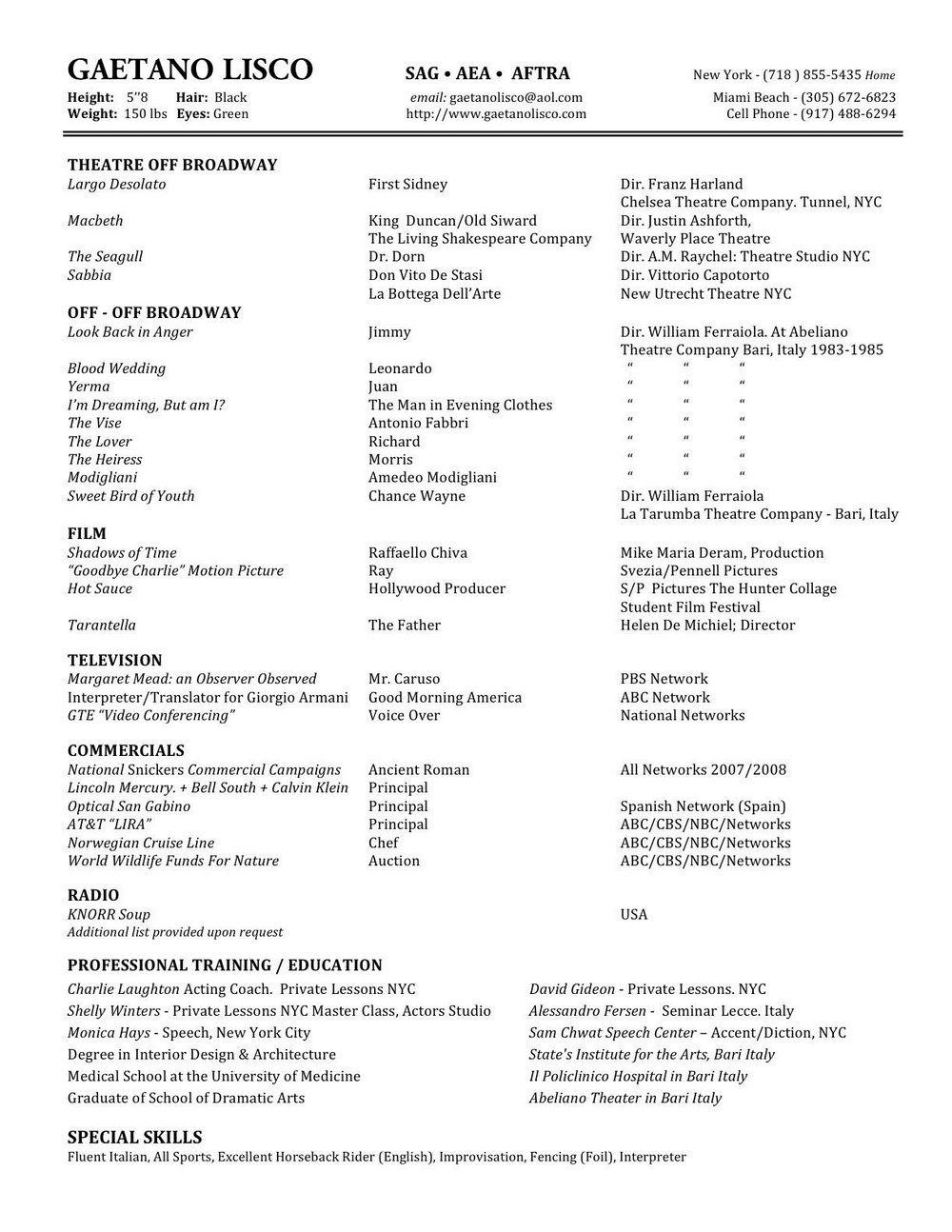 Copy And Paste Resume Template Free