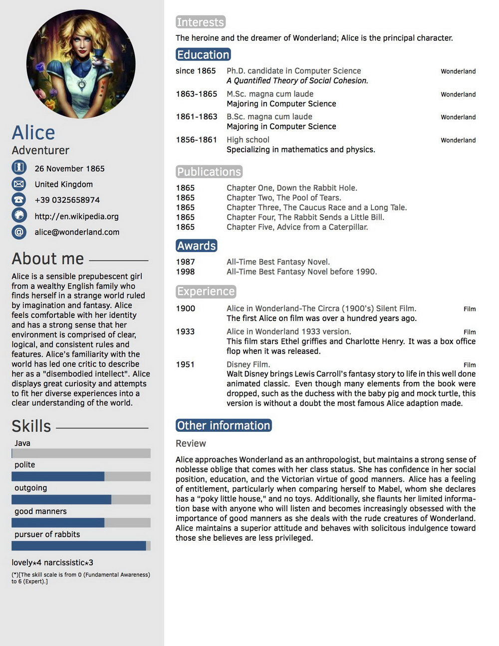 Curriculum Vitae Templates Doc