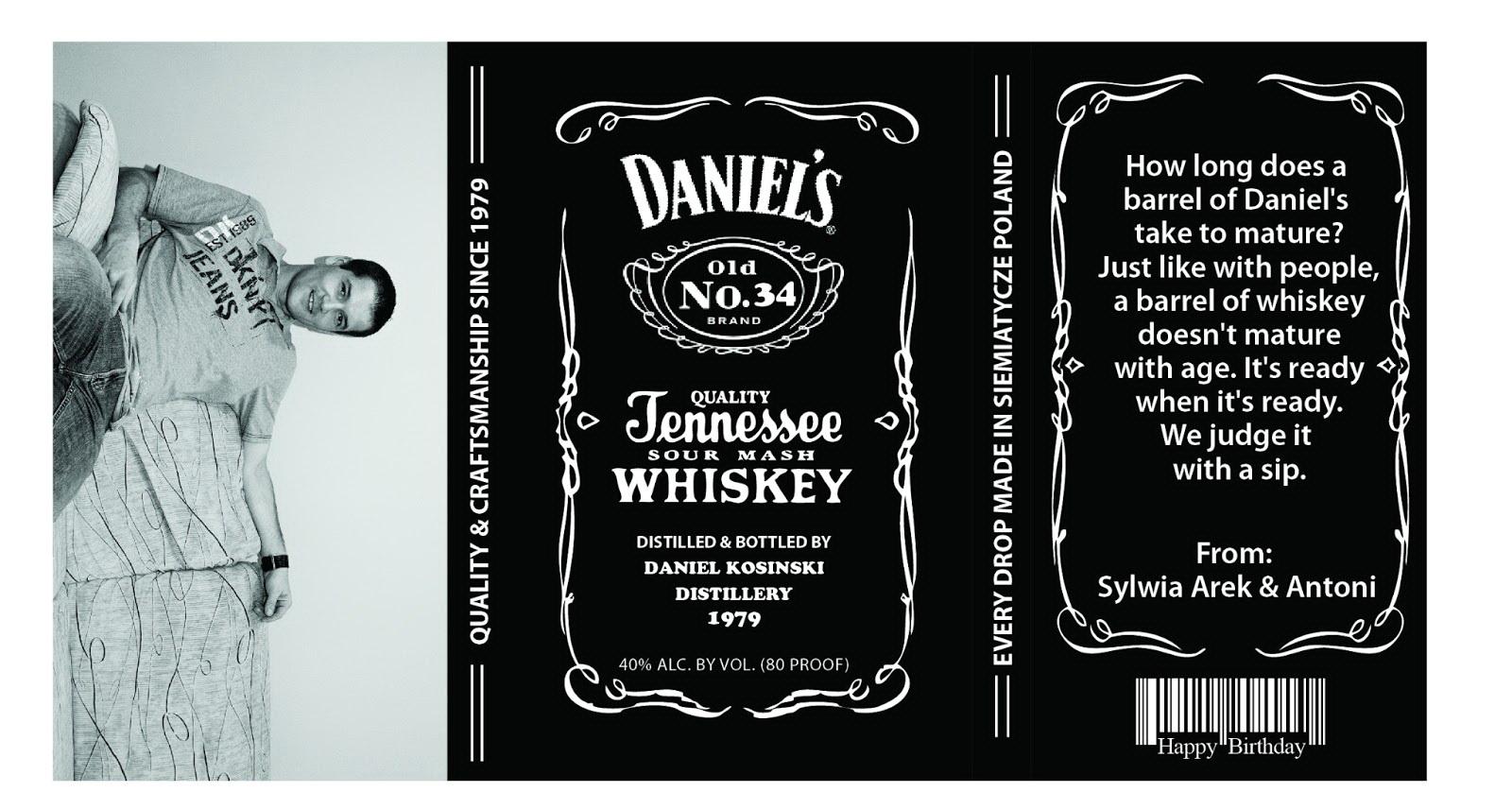 Custom Jack Daniels Label Template