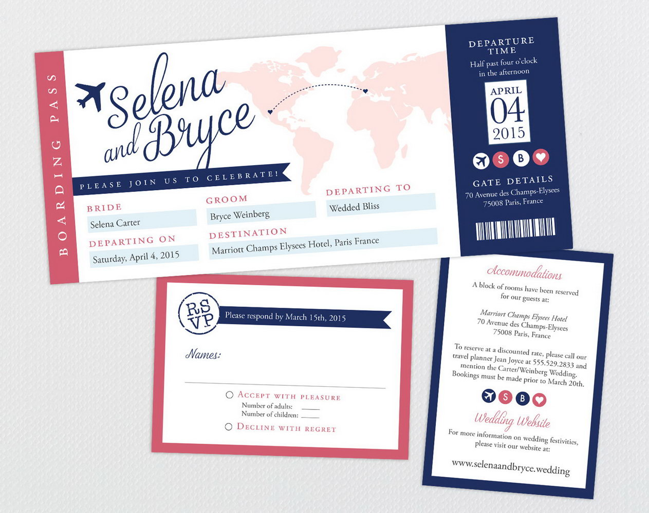 Customizable Boarding Pass Invitation Template