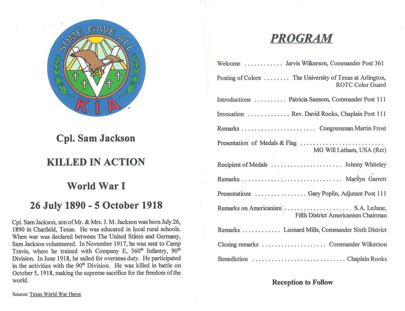 Dedication Ceremony Program Template