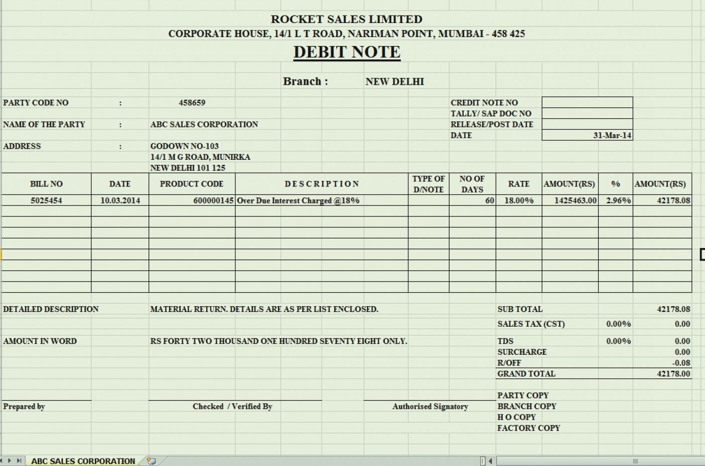 Deposit Slip Template Excel