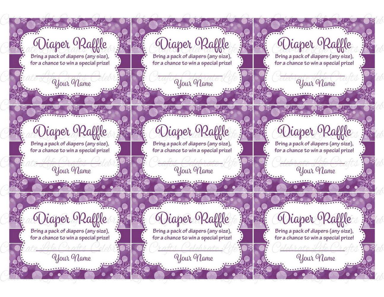 Diaper Raffle Card Template Free