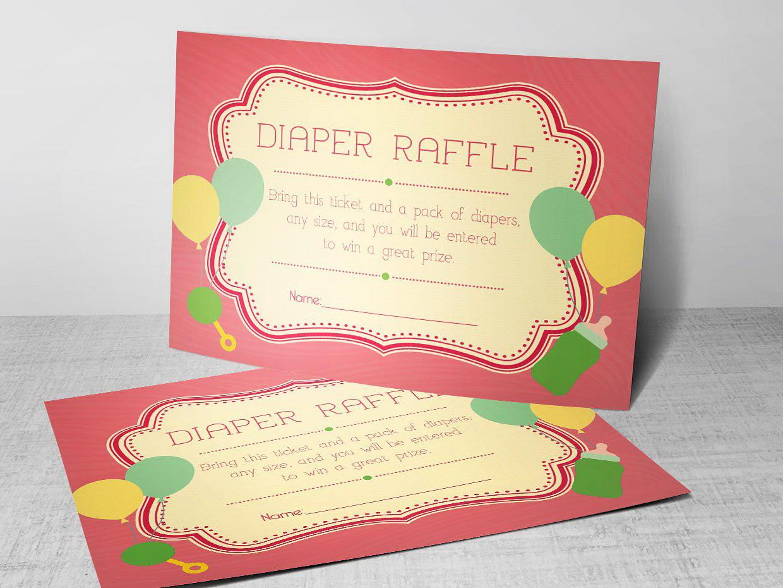 Diaper Raffle Sign Template