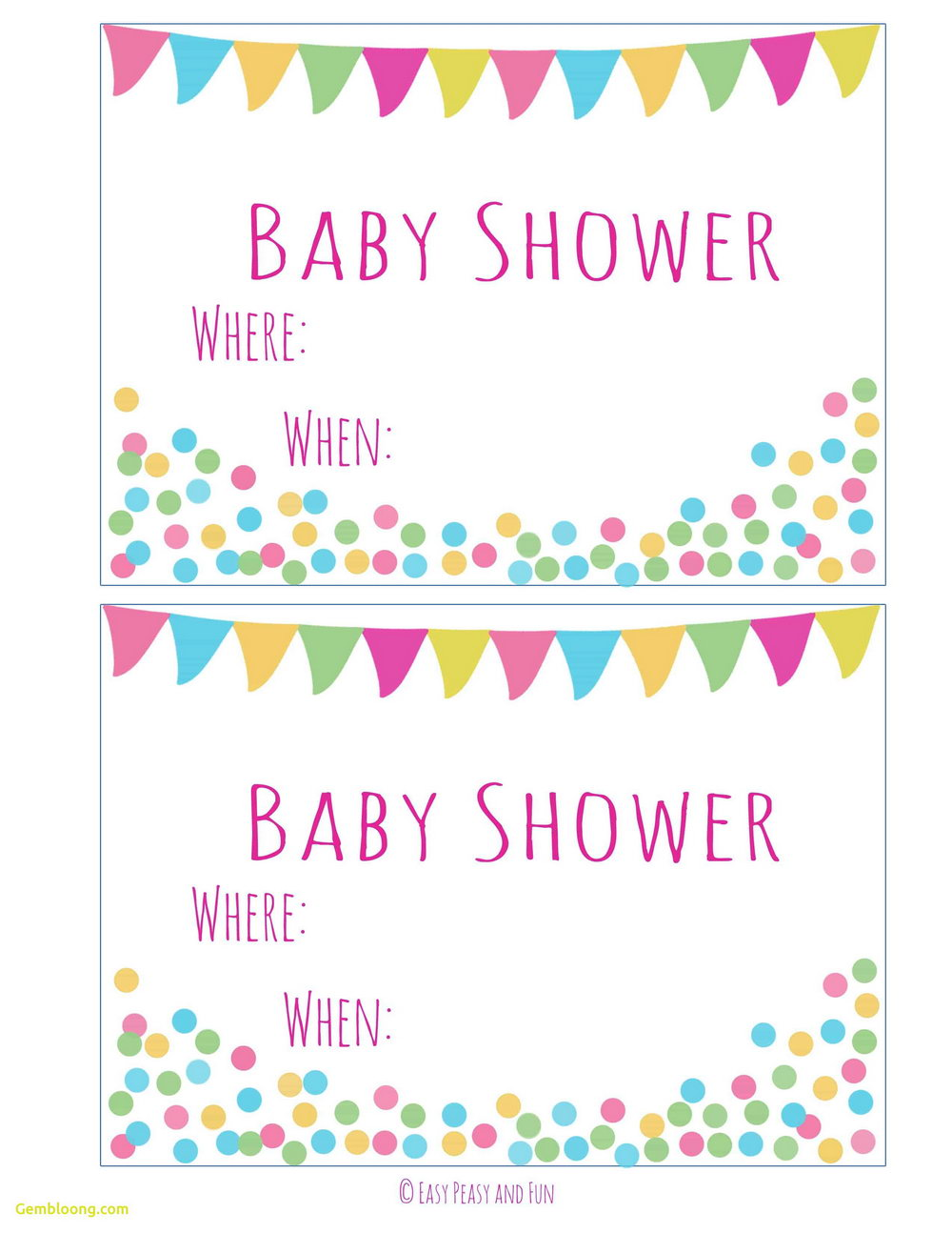 Diaper Raffle Tickets Template Printable