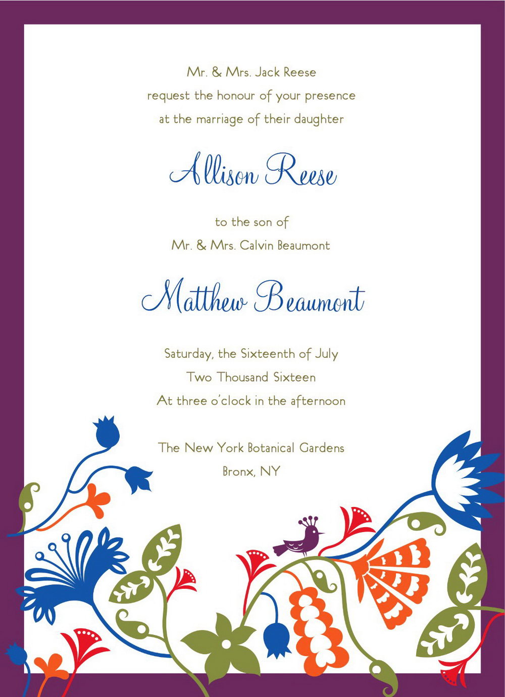 Downloadable Printable Invitation Templates