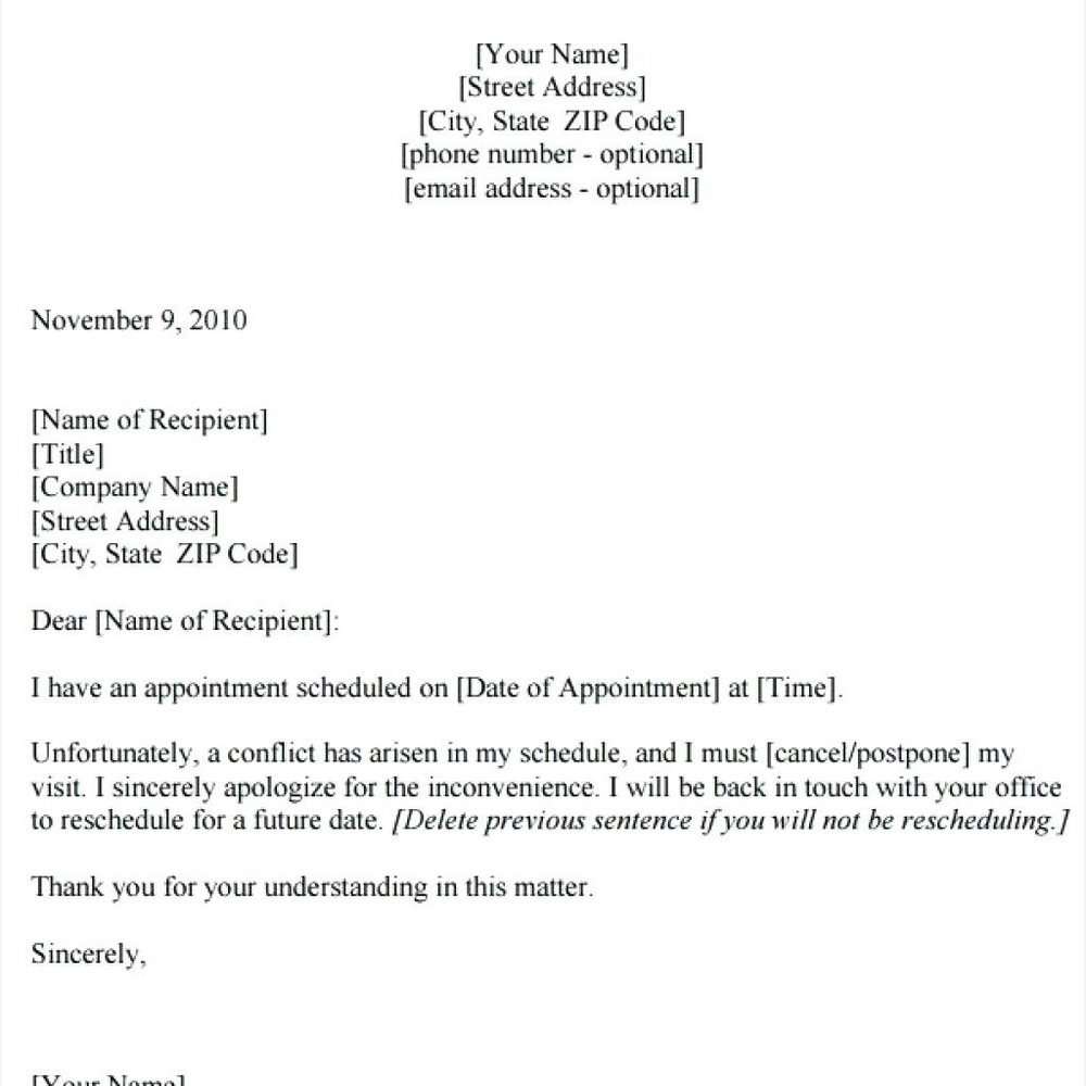 Dr Appointment Reminder Template