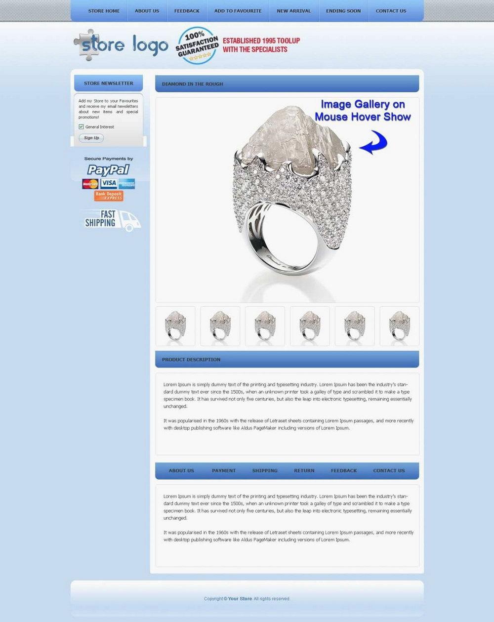 Ebay Listing Description Template