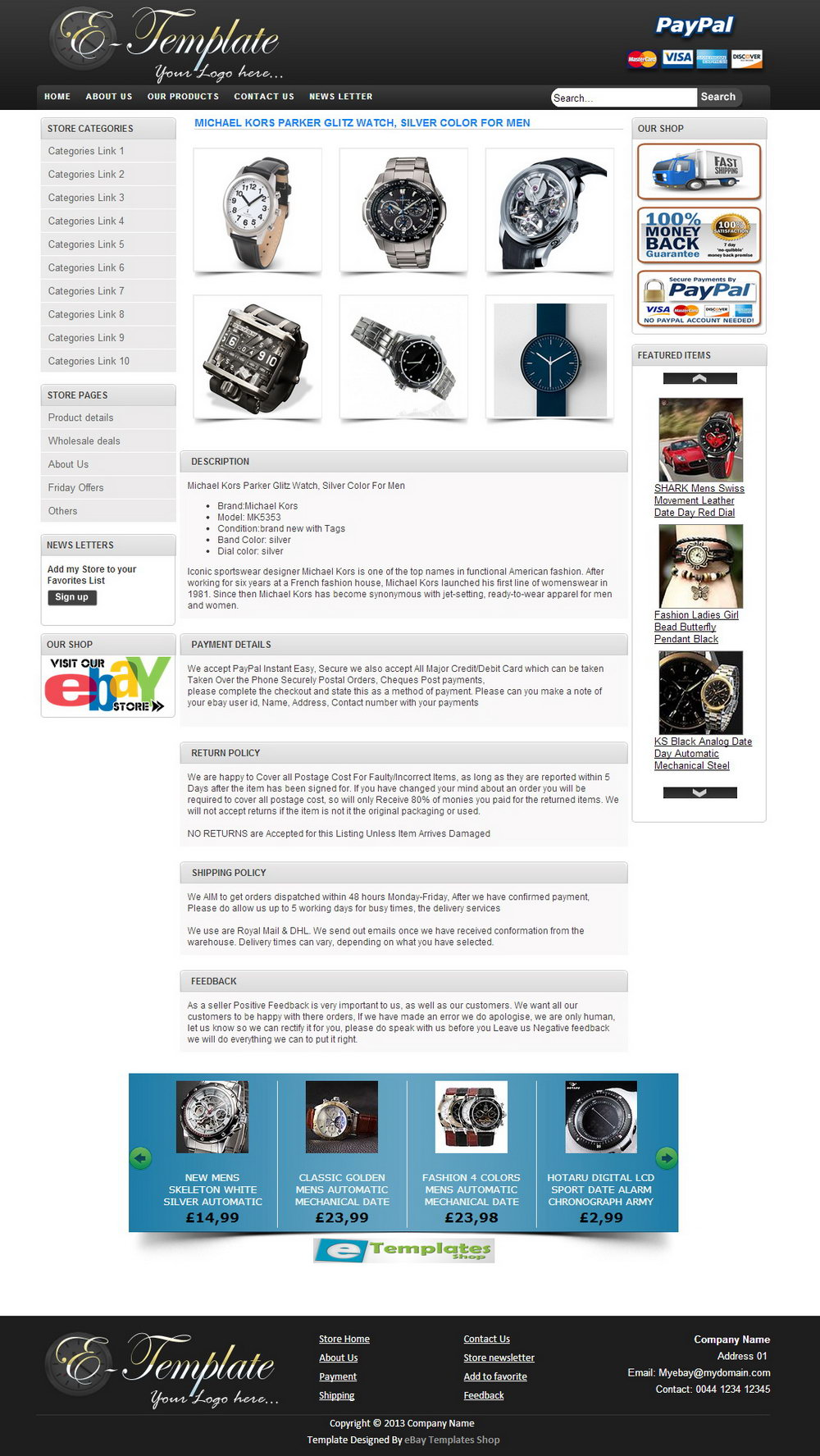 Ebay Listing Templates Html Free