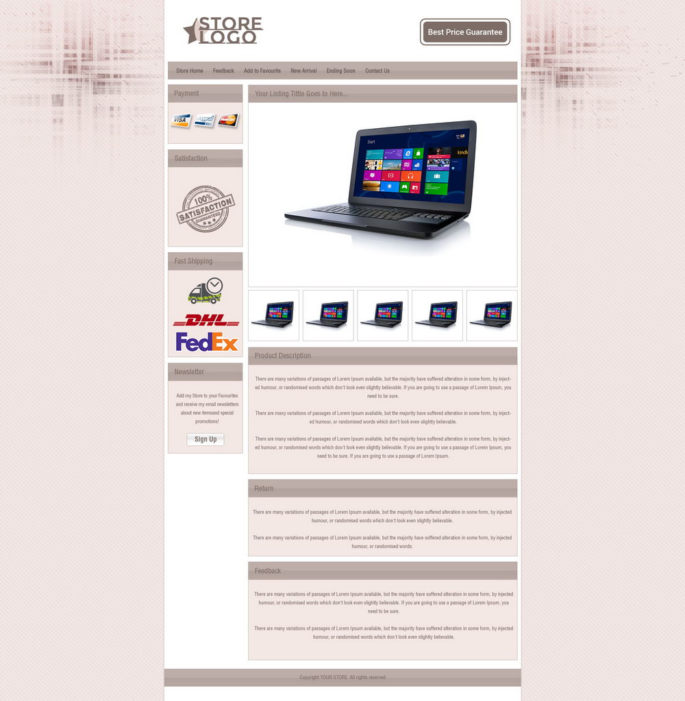 Ebay Listing Templates Html