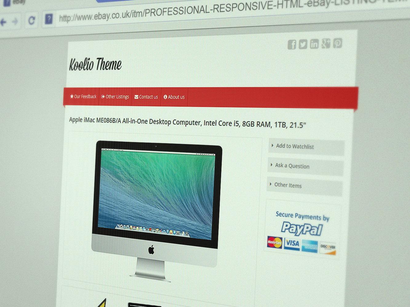 Ebay Listing Templates